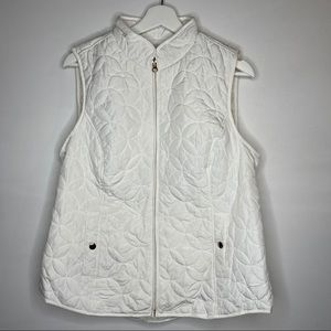 Croft & Barrow M White Quilted Vest NWOT